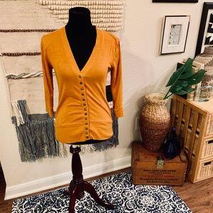 Orange Zenana Outfitters Button Down Cardigan